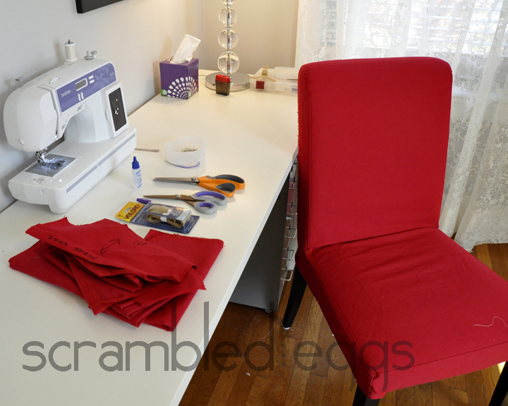 Tutorial: Ikea Dining Room Chair Covers