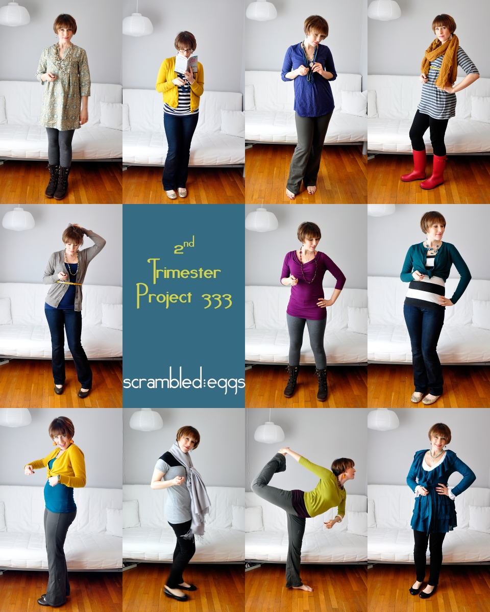 11 recent Project 333 outfits.