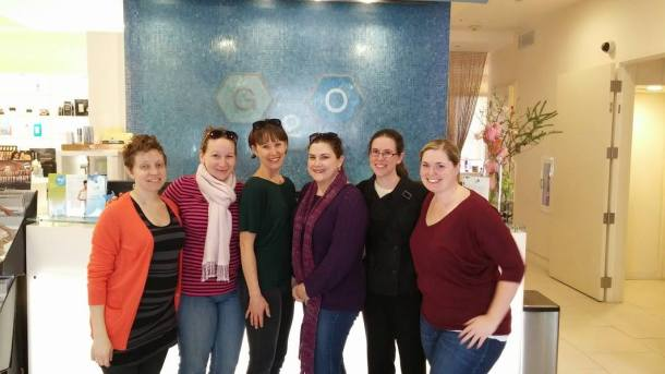 Six pretty awesome ladies all refreshed after a great spa day!