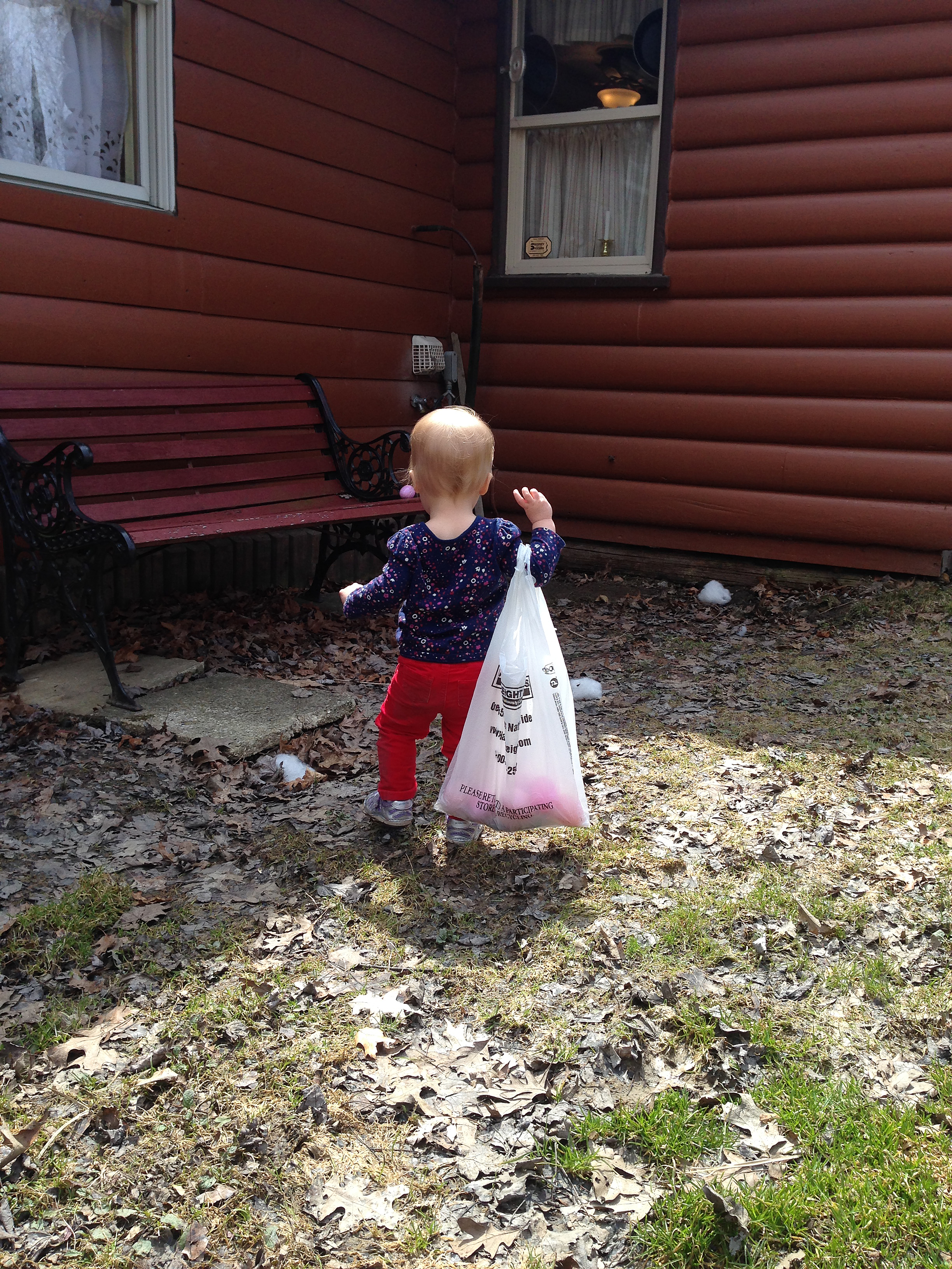 Hunting. The Bag Is Nearly As Big As She Is.