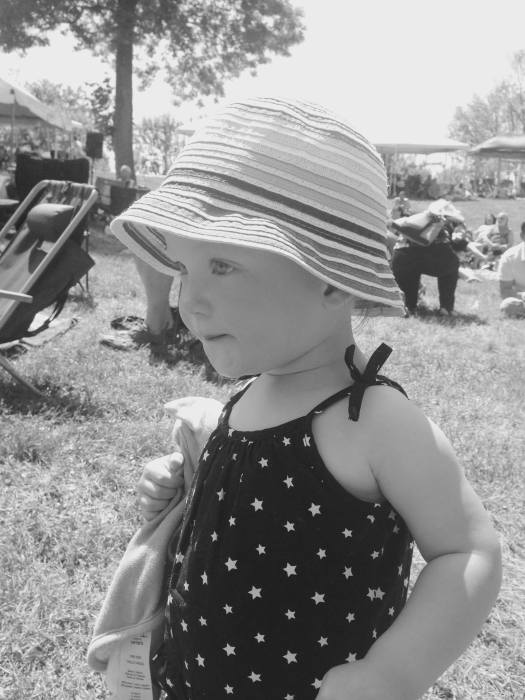 Sabine at the Bob Dylan Festival I drug my weary family to on Monday. It was super fun, and super hot, and rather tiring, but we did it.